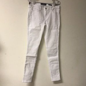Hollister Jeans size 9R W 29 white low rise NWT